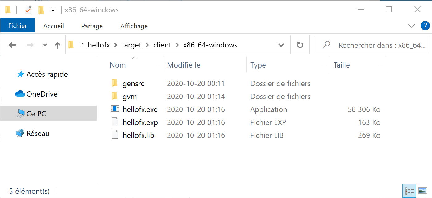 The .exe file in File Explorer
